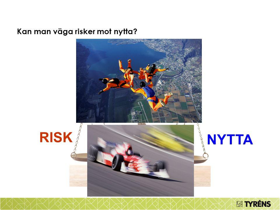Kan man låta bli att väga risker mot nytta???