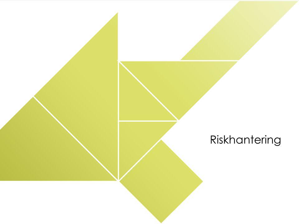 RISKHANTERING Mål och avgränsningar Riskinventering Riskvärdering Riskreducerande åtgärder Riskanalys KS Risknivå Kriterier för värdering av risk