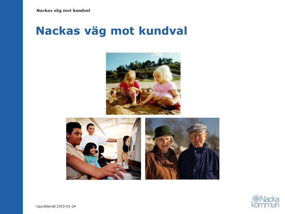Nackas väg mot kundval Uppdaterad 2003-01-24 Nackas väg mot kundval