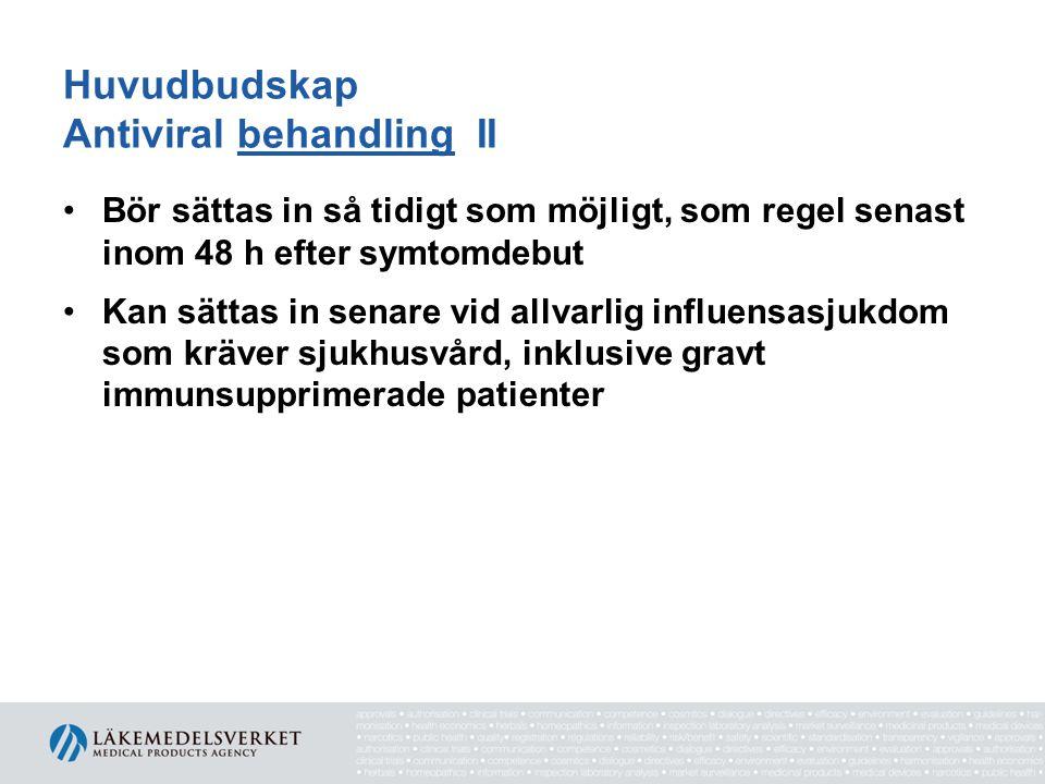 Tabell III. Dosrekommendation av oseltamivir till barn < 1 år baserad på ålder