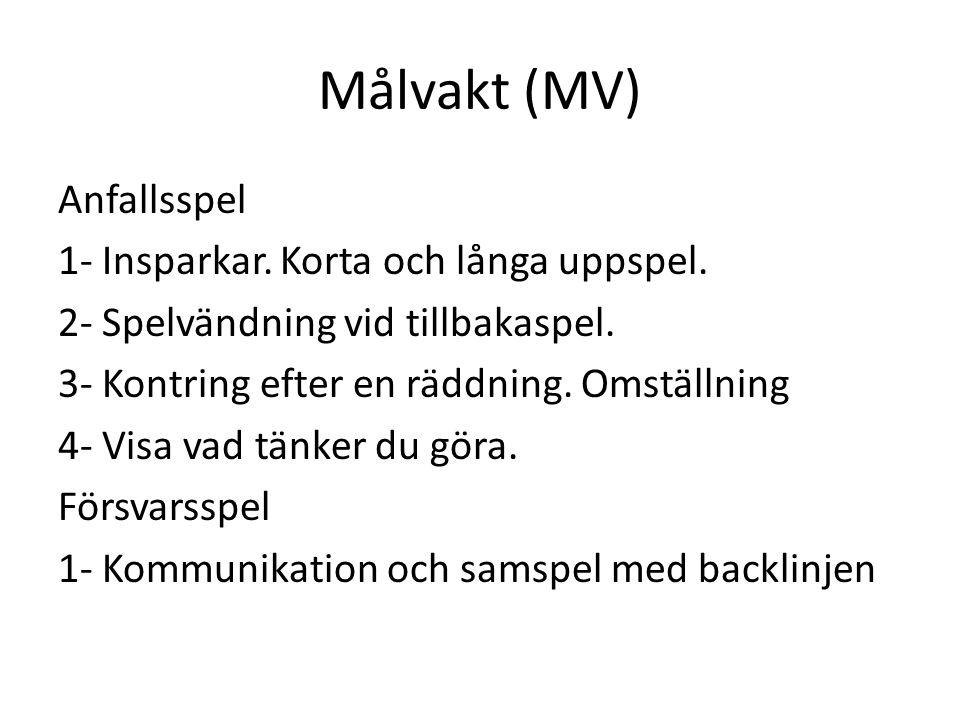 Allmänna råd för alla Anfallsspel -Möta bollen -Ge företrädet för bollinnehavet till den som går mot anfallsriktningen.