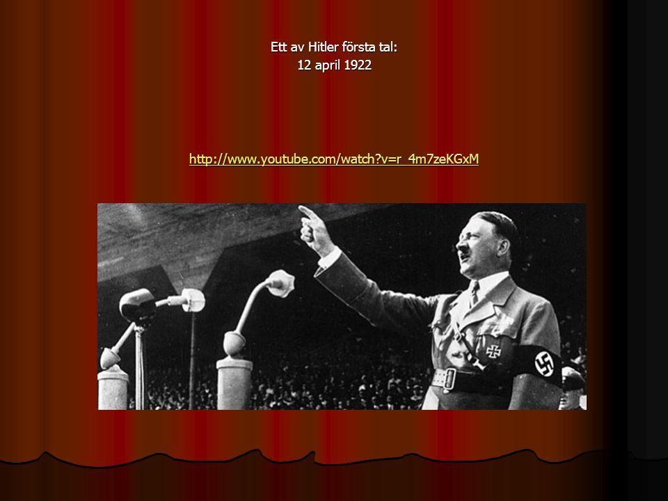 Nazisterna griper makten Fler och fler röstade på nazistpartiet – de skyllde allt elände på judarna.