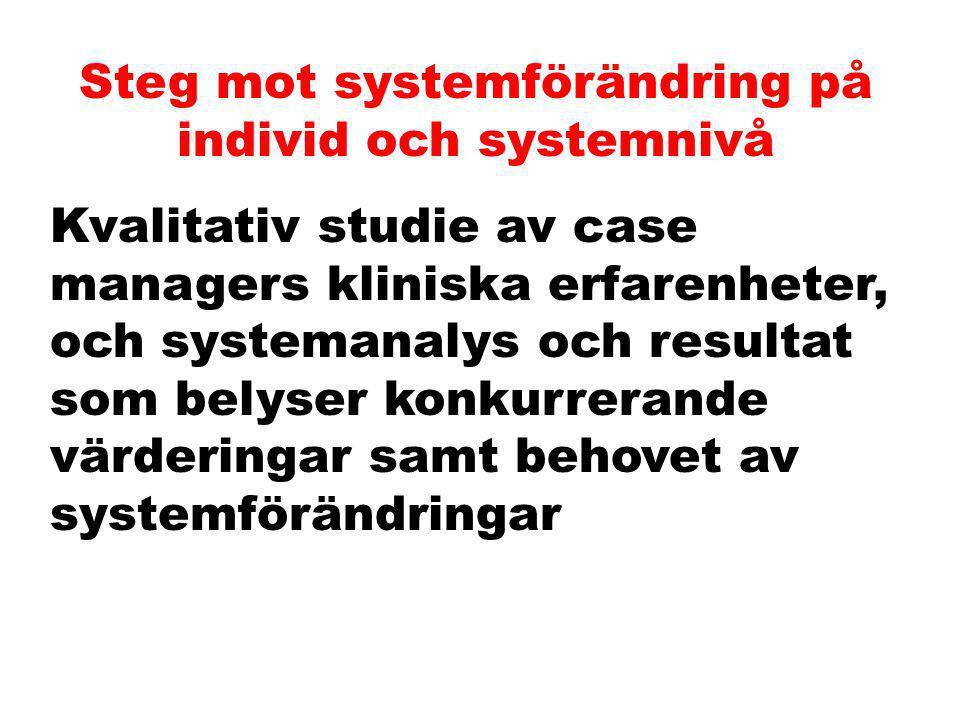 Steg för att fortsätta Kvalitetsutveckling Audits Programtrohet Standards för programinnehåll Resultatuppföljning