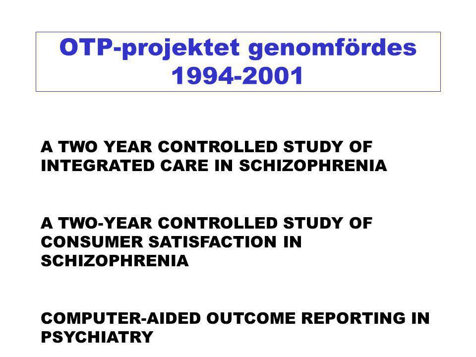 eINTEGRERAD PSYKIATRI Ett vårdprogram som prövats i både landsbygds- och stadsmiljö i patientnära behandlingsforskning i Sverige 1994-2001 (Svenljunga