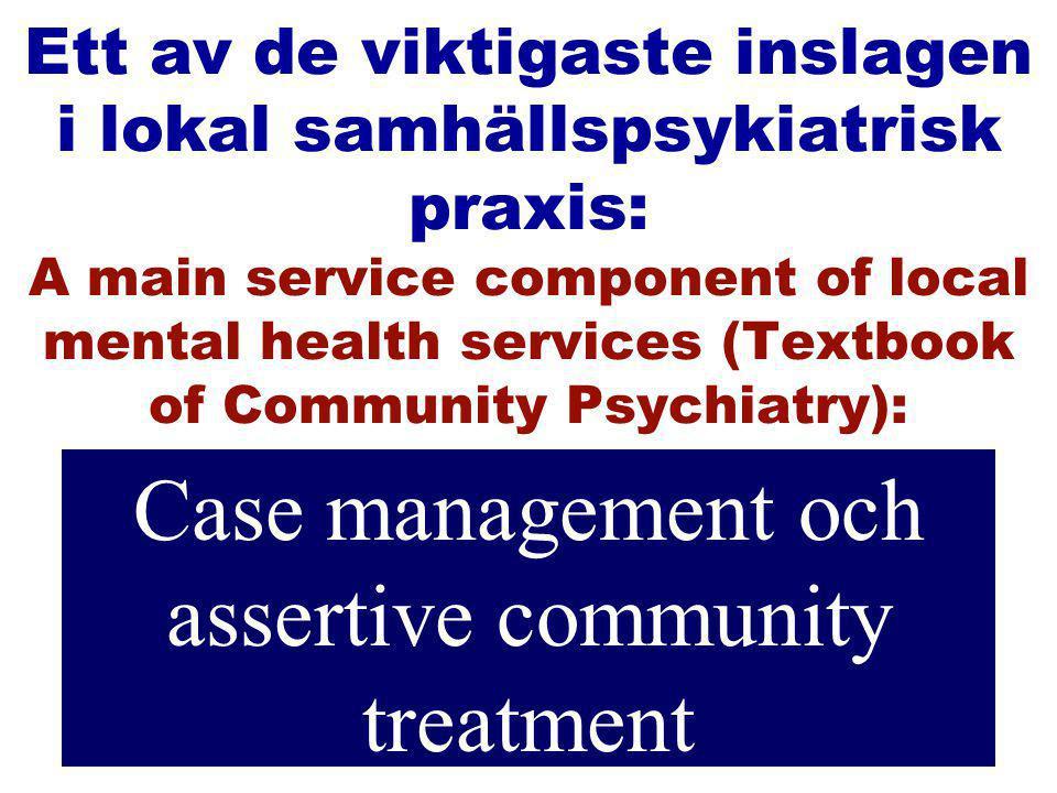 EVIDENSBASERAD PSYKIATRI KAN TILLÄMPAS VID BEHANDLING AV ENSKILDA PATIENTER Ian RH Falloon och Optimal Treatment Projektet (OTP)