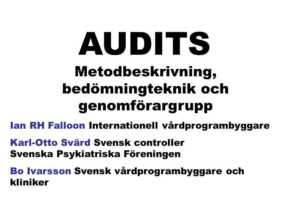 KVALITETSUTVECKLING Audits Programtrohet Standards för vårdprogrammet eIP Resultatuppföljning
