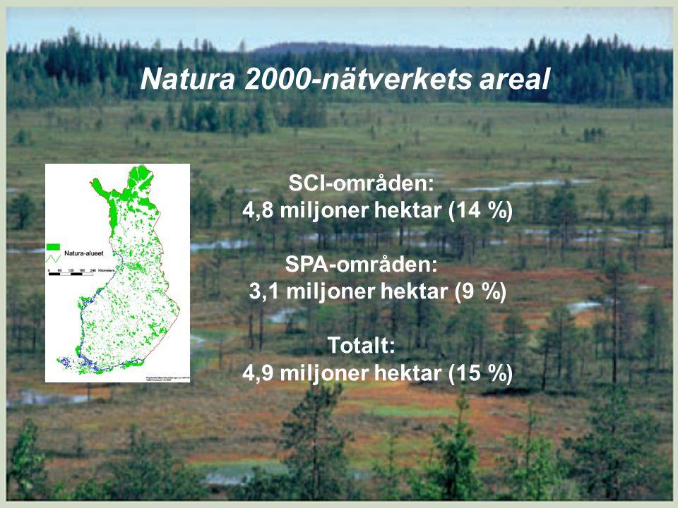 5 Förbudet mot försämring i praktiken Riktas mot områdets urvalsgrunder vilka framgår tydligare i uppgiftsblanketterna för varje område  SCI-områden enligt naturdirektivet: – Naturtyper enligt bilaga 1 i direktivet, t.ex.