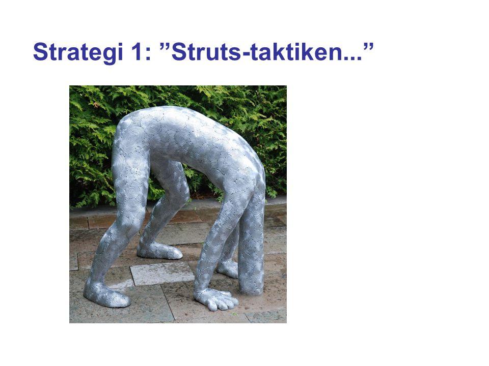 Strategi 1: Struts-taktiken...