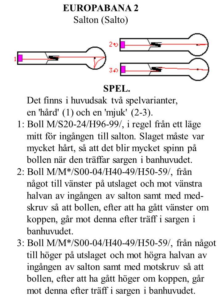EUROPABANA 13 Trappan (Dobbelkeile) SPEL. 1: Boll M/S00-04/H90-95/H96-99/.