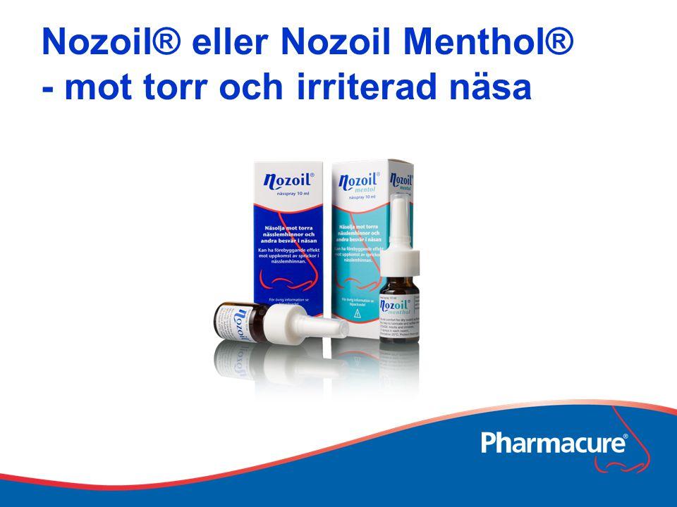 Nozoil® eller Nozoil Menthol® - mot torr och irriterad näsa