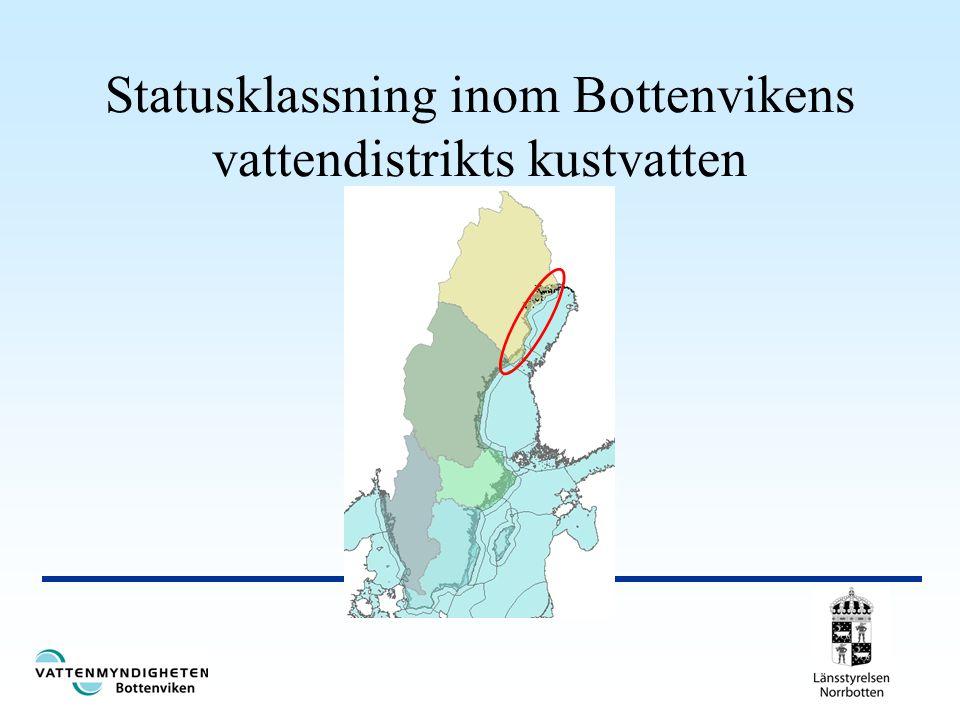 Statusklassning inom Bottenvikens vattendistrikts kustvatten