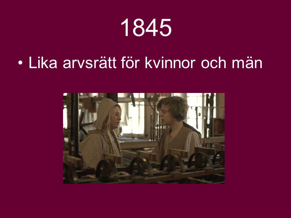 1858 En ogift kvinna över 25 kan ansöka om att bli myndig Gifter hon sig blir hon åter omyndig