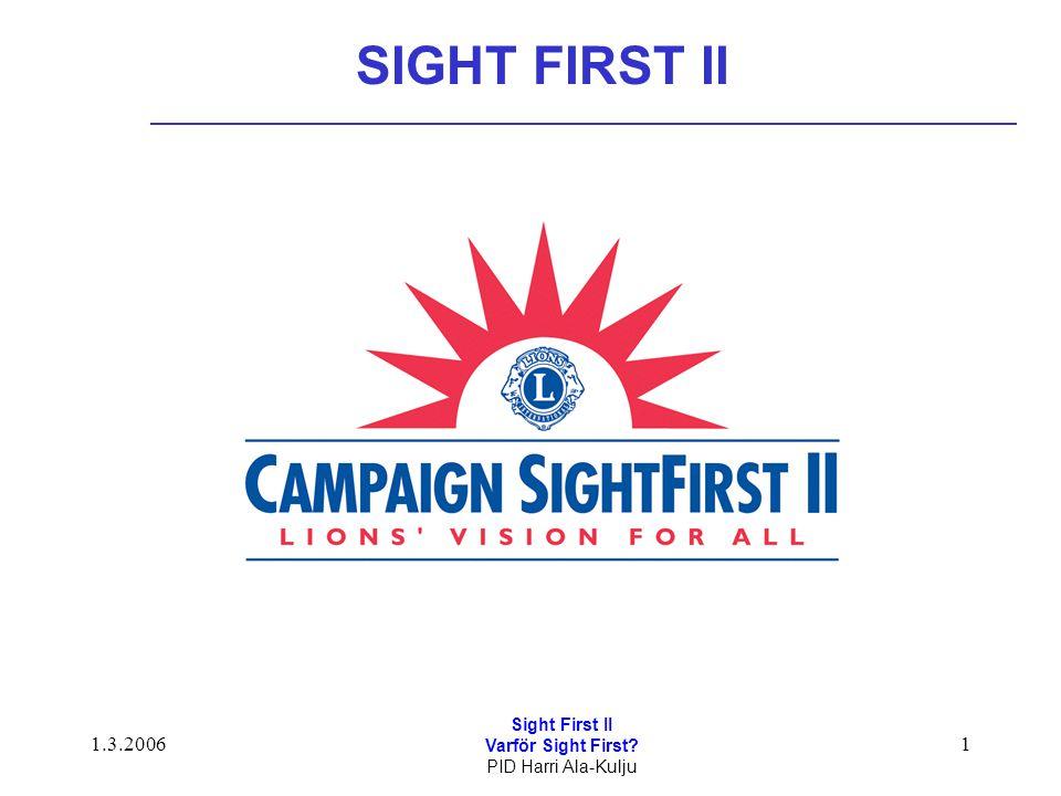 1.3.2006 Sight First II Varför Sight First? PID Harri Ala-Kulju 1 SIGHT FIRST II