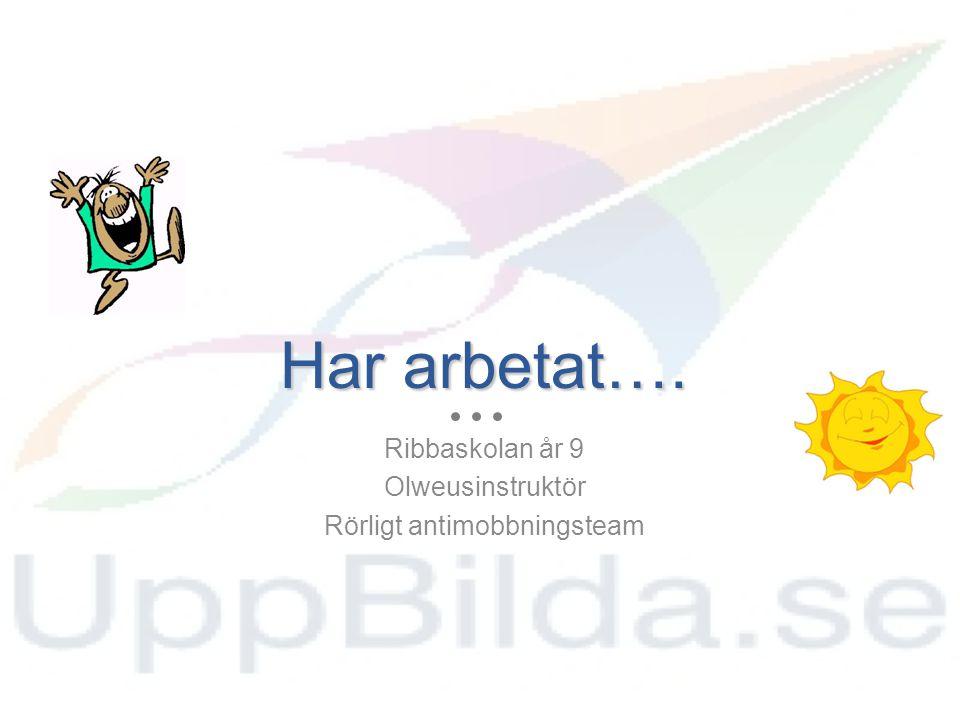 Arbetar idag…. Idrottslärare Antimobbningsteam Värdegrundspedagog Uppbilda.se