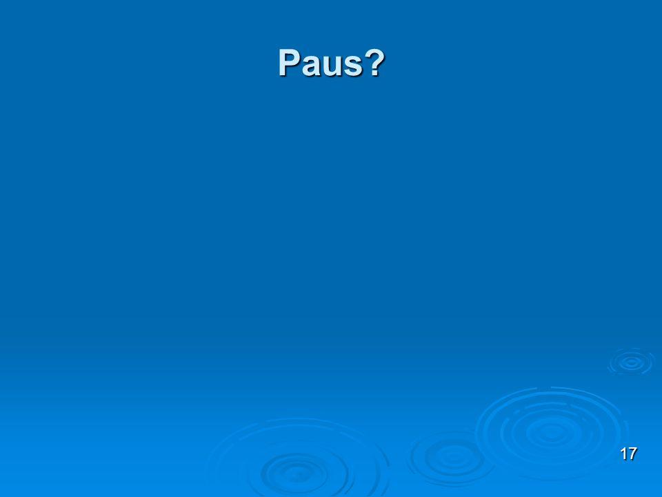 Paus? 17