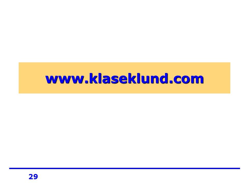 29 www.klaseklund.com