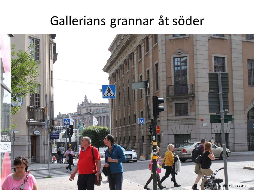 Gallerians grannar åt söder Ulf.johannisson@telia.com