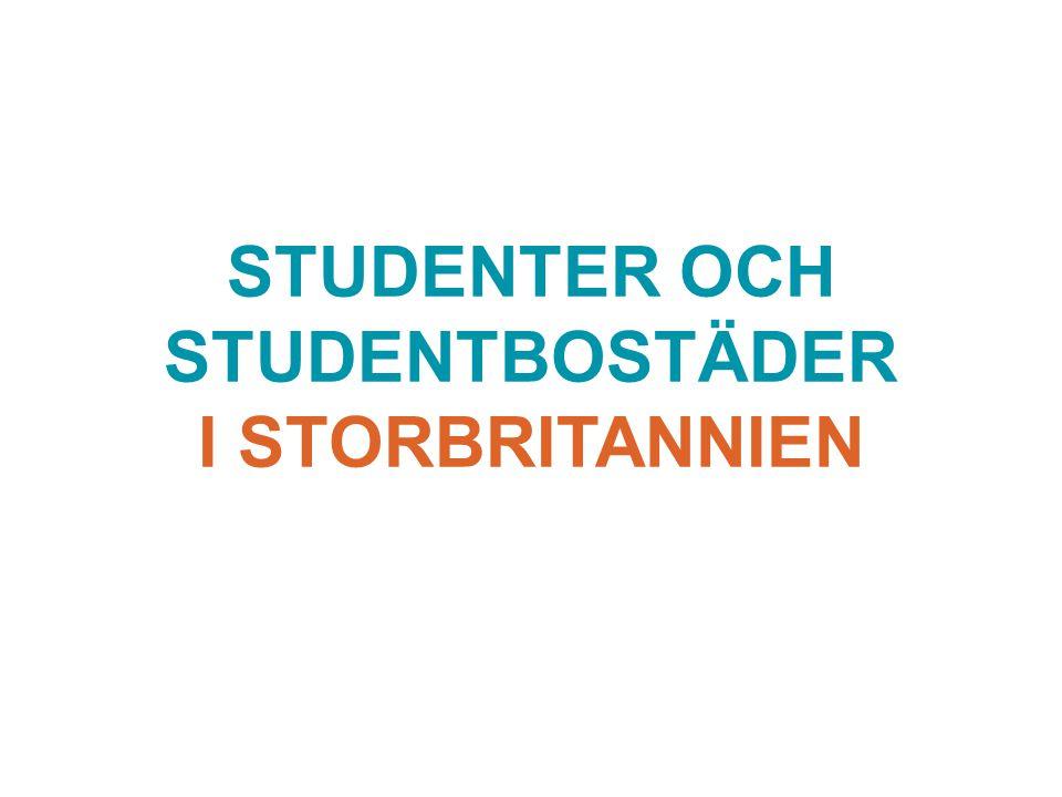 STUDENTER OCH STUDENTBOSTÄDER I STORBRITANNIEN
