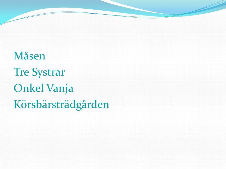 Måsen Tre Systrar Onkel Vanja Körsbärsträdgården