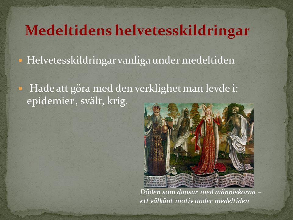 Döden som dansar med människorna – ett välkänt motiv under medeltiden Medeltidens helvetesskildringar