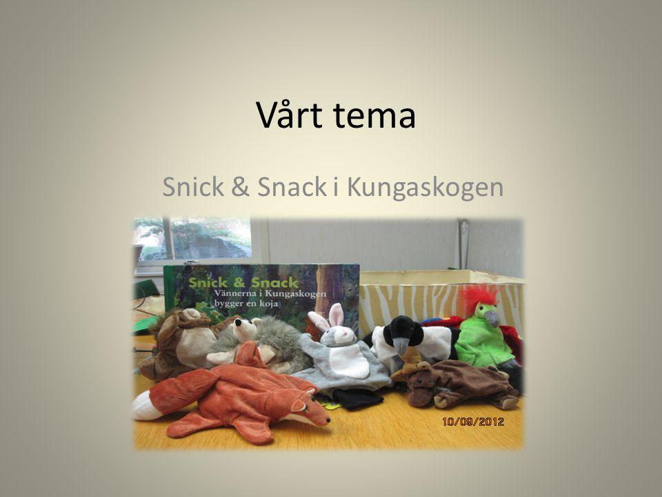 Vårt tema Snick & Snack i Kungaskogen