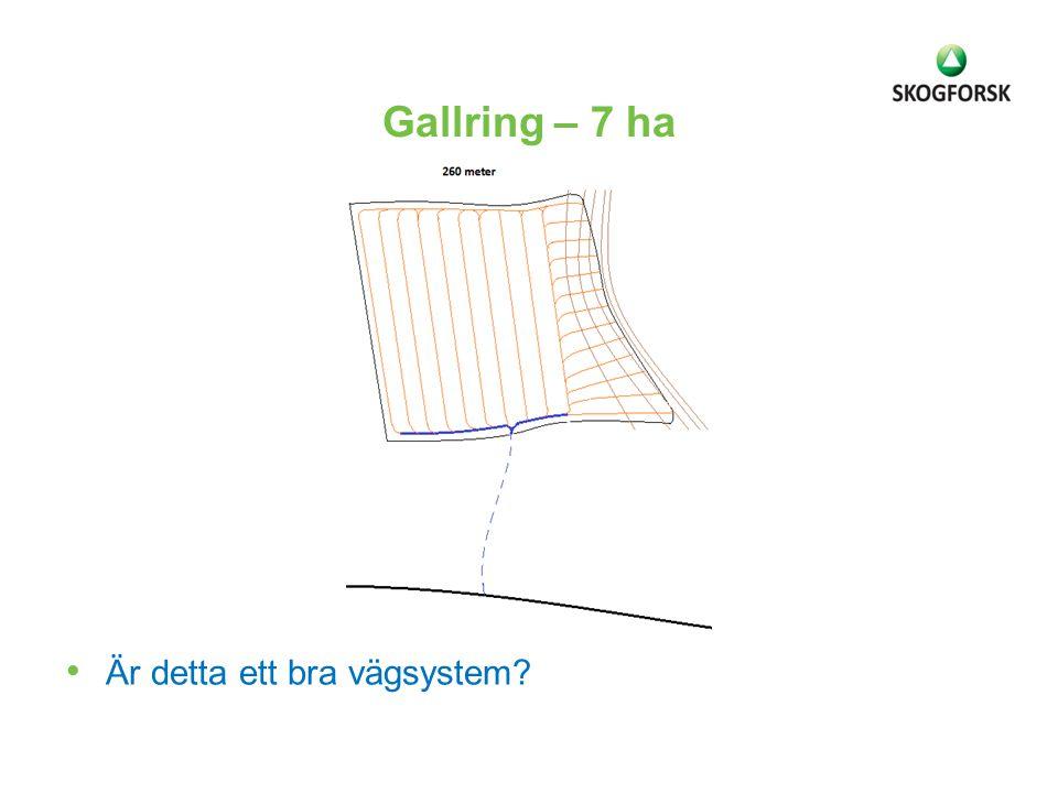 Gallring – 7 ha Är detta ett bra vägsystem?