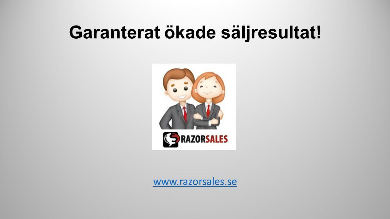 """Steg 1 Vi genomför en """"Razorsales Workshop"""" för att få fram just er action plan Steg 2 Vi aktiverar på vår """"Sales Support"""" avdelning för presales & mö"""