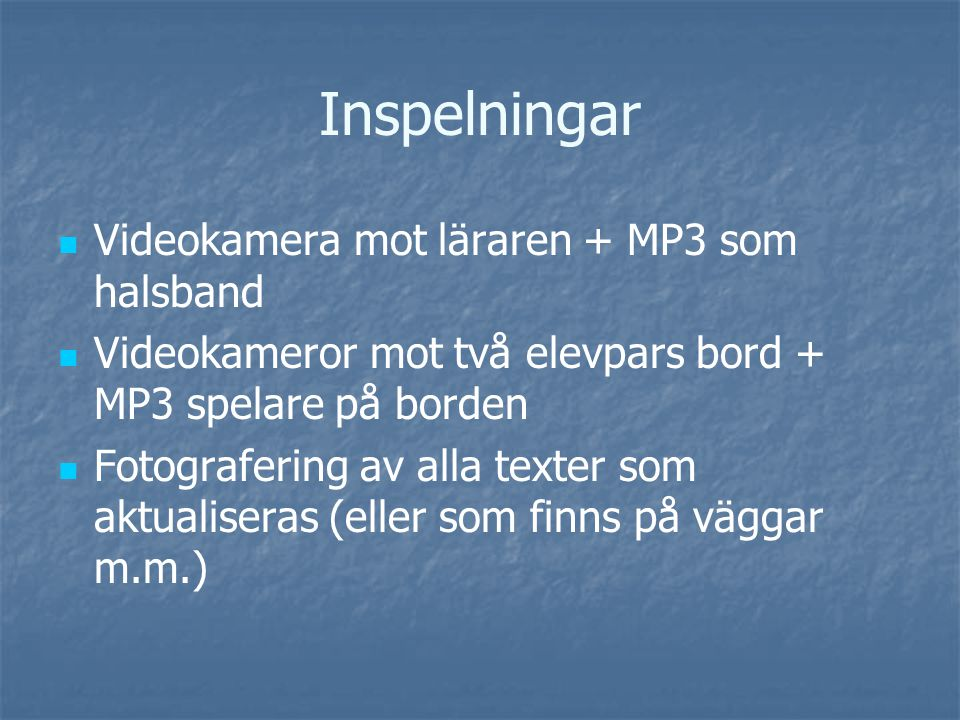 Kemi som skriftspråkspraktik Kemi som skriftspråkspraktik Ulla Ekvall och Kristina Danielsson Inspirerat av den etnografiska metoden inom New literacy studies (Barton, Hamilton) Etiska överväganden