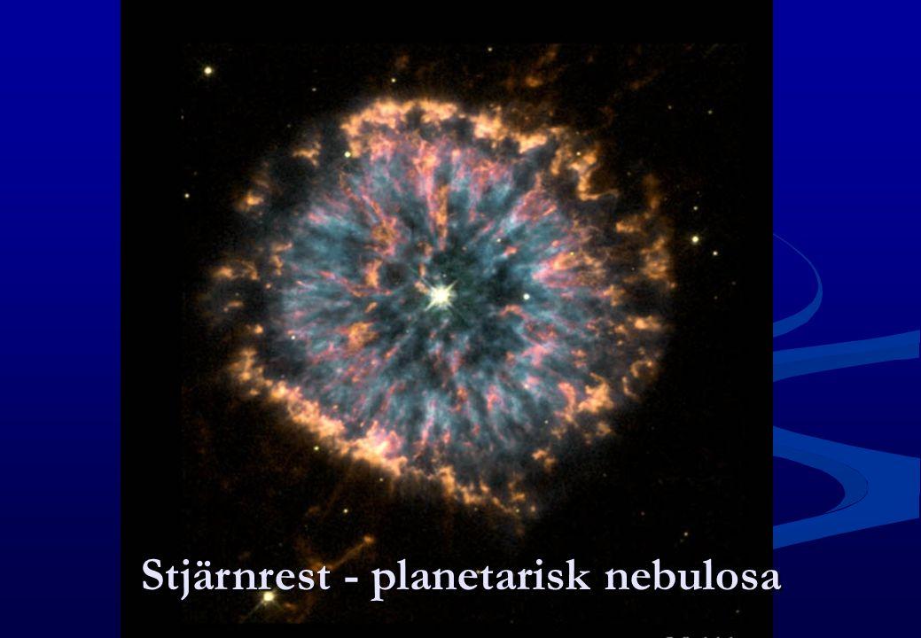 Stjärnrest - planetarisk nebulosa