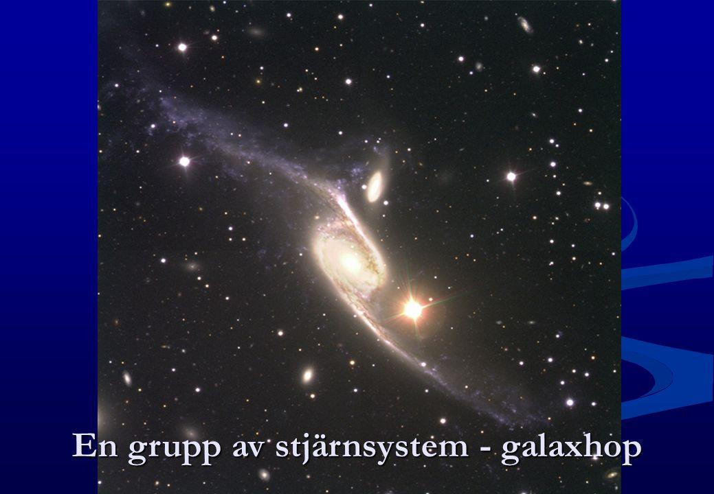 En grupp av stjärnsystem - galaxhop