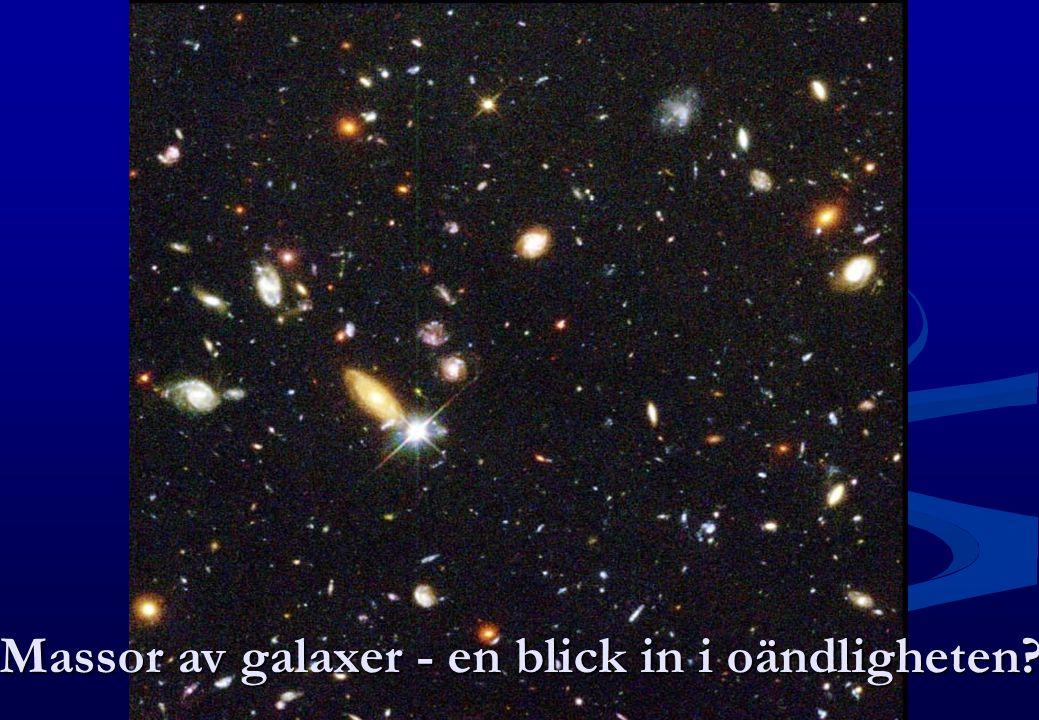 Massor av galaxer - en blick in i oändligheten