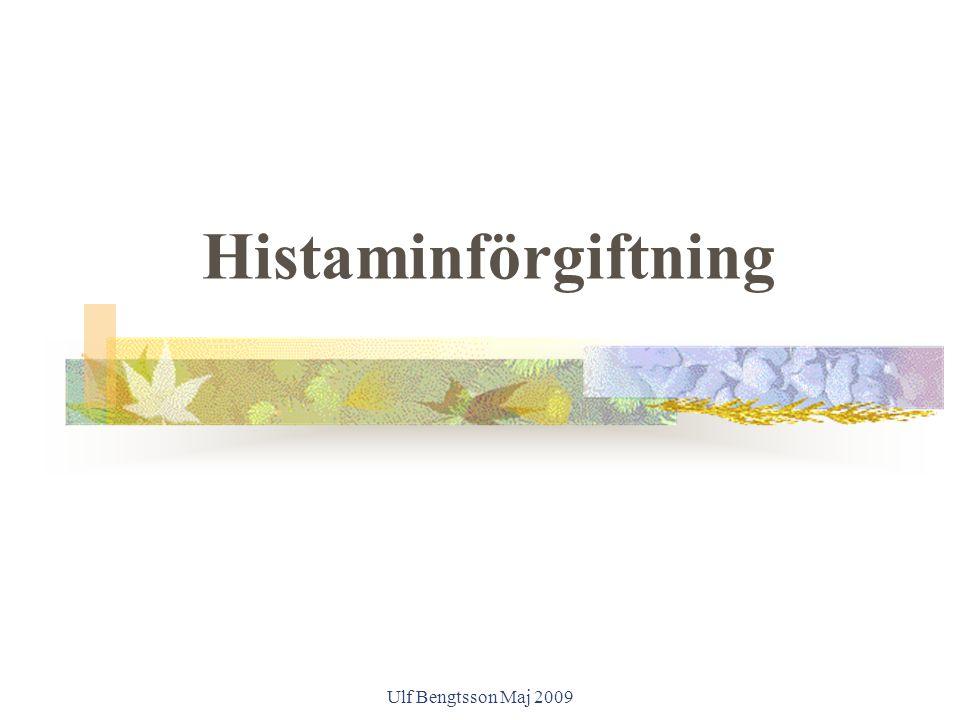 Ulf Bengtsson Maj 2009 Histaminförgiftning