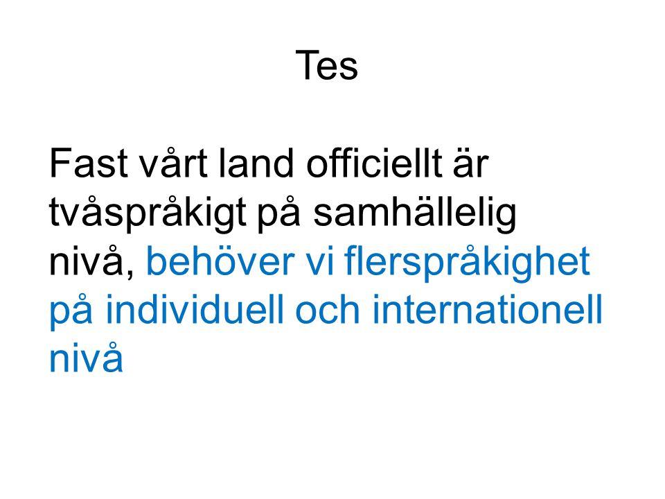 Utan det svenska språket skulle det moderna Finland inte existera, språket är en integrerad del av vår identitet.