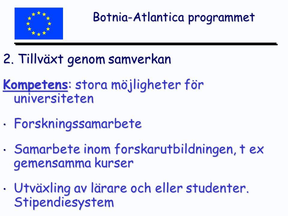 Botnia-Atlantica programmet 2.