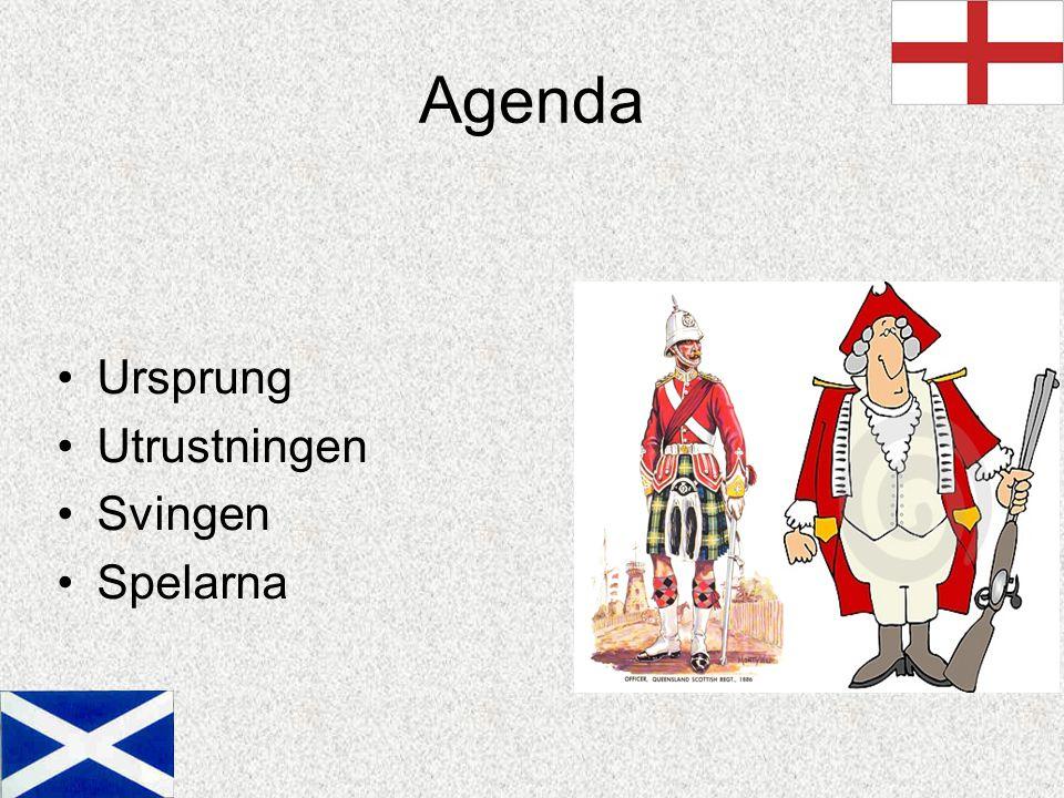 Agenda Ursprung Utrustningen Svingen Spelarna