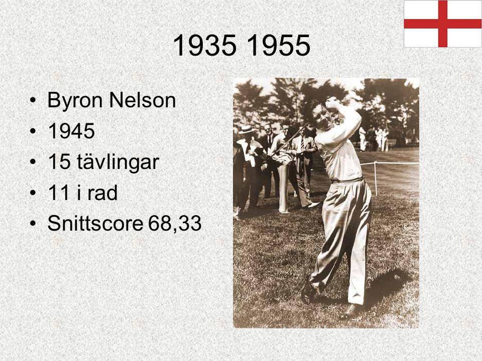 1935 1955 Byron Nelson 1945 15 tävlingar 11 i rad Snittscore 68,33