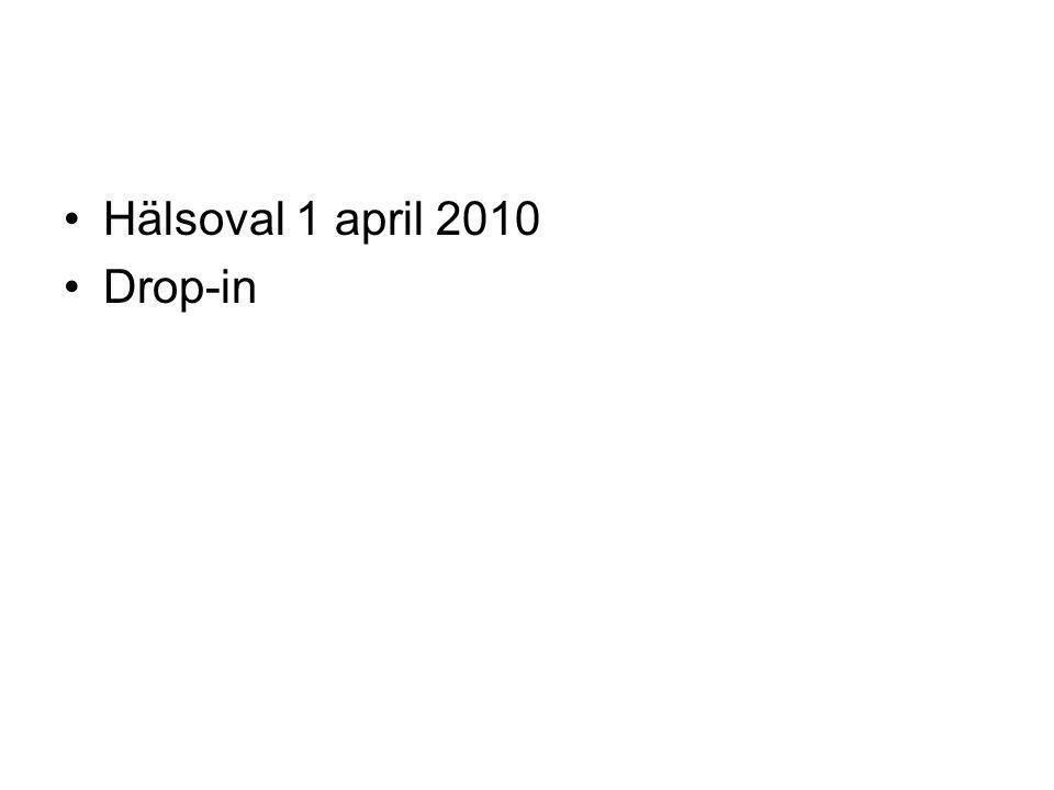 Hälsoval 1 april 2010 Drop-in