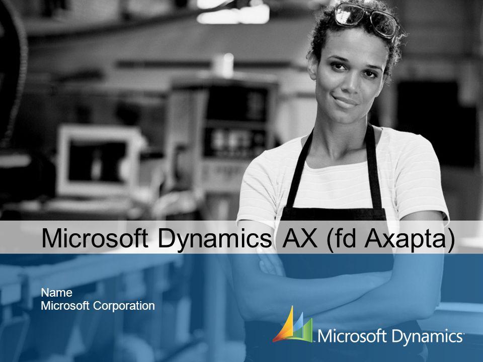Microsoft Dynamics AX (fd Axapta) Name Microsoft Corporation