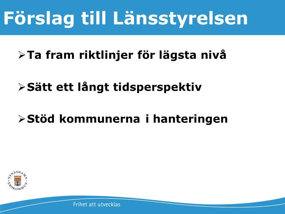 Jonas Qvarfordt - Miljöstrateg Framtida havsnivåer i Stockholms län 20 Förslag till Länsstyrelsen  Ta fram riktlinjer för lägsta nivå  Sätt ett lång