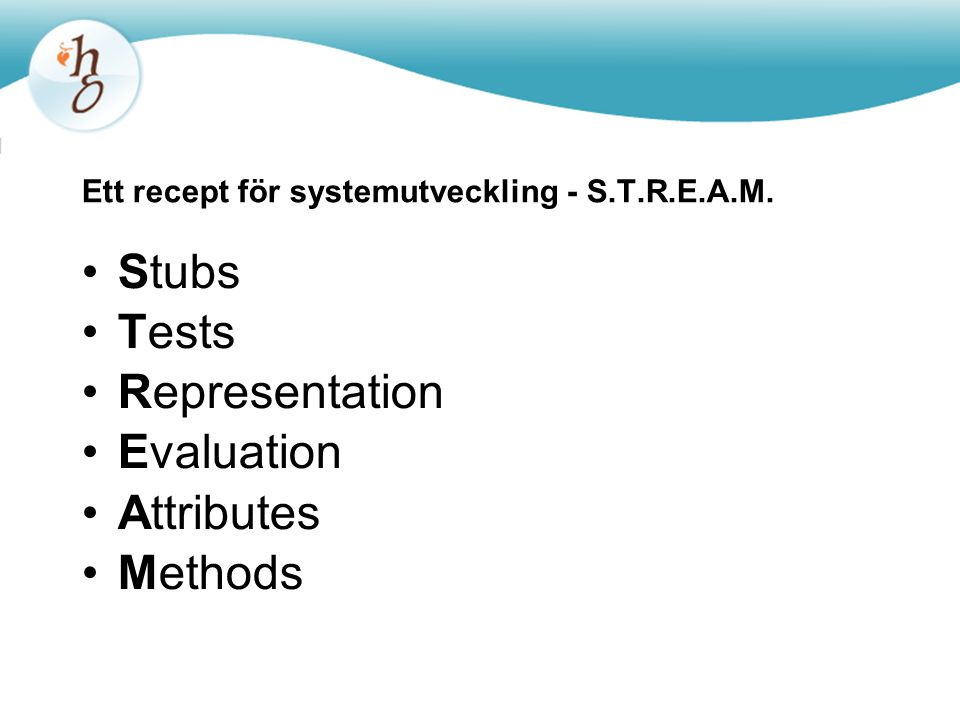Ett recept för systemutveckling - S.T.R.E.A.M.