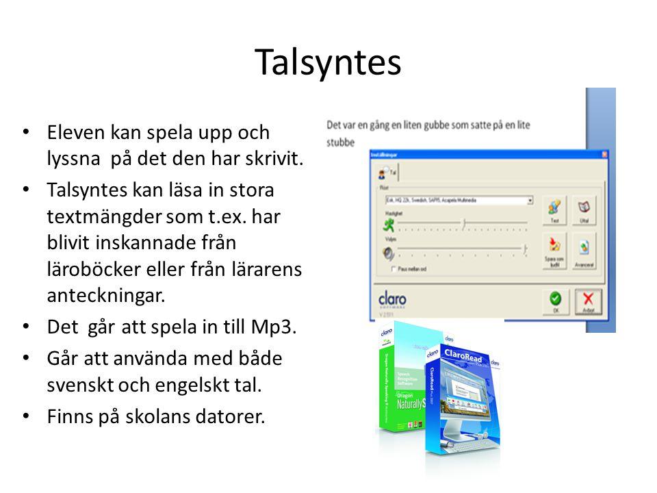 Stava Rex Rättstavningsprogram i svenska för framförallt dyslektiker. Finns på skolans datorer.
