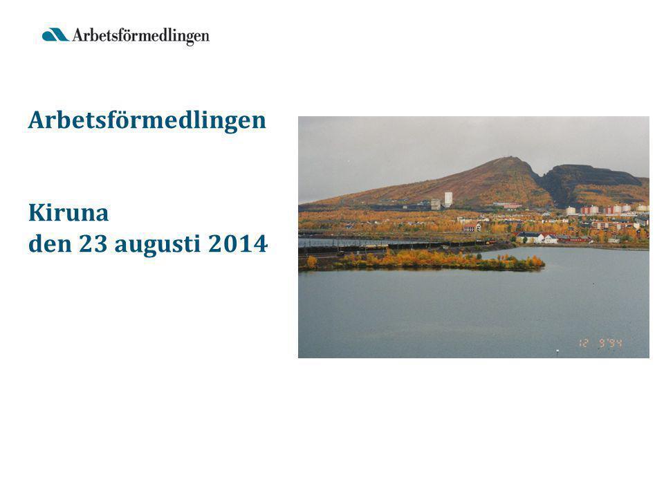 Arbetsförmedlingen Kiruna den 23 augusti 2014