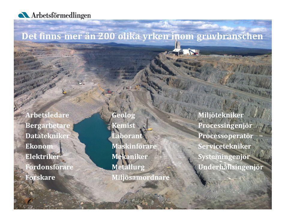Bild: Anrikningsverket i Kiruna Det finns mer än 200 olika yrken inom gruvbranschen