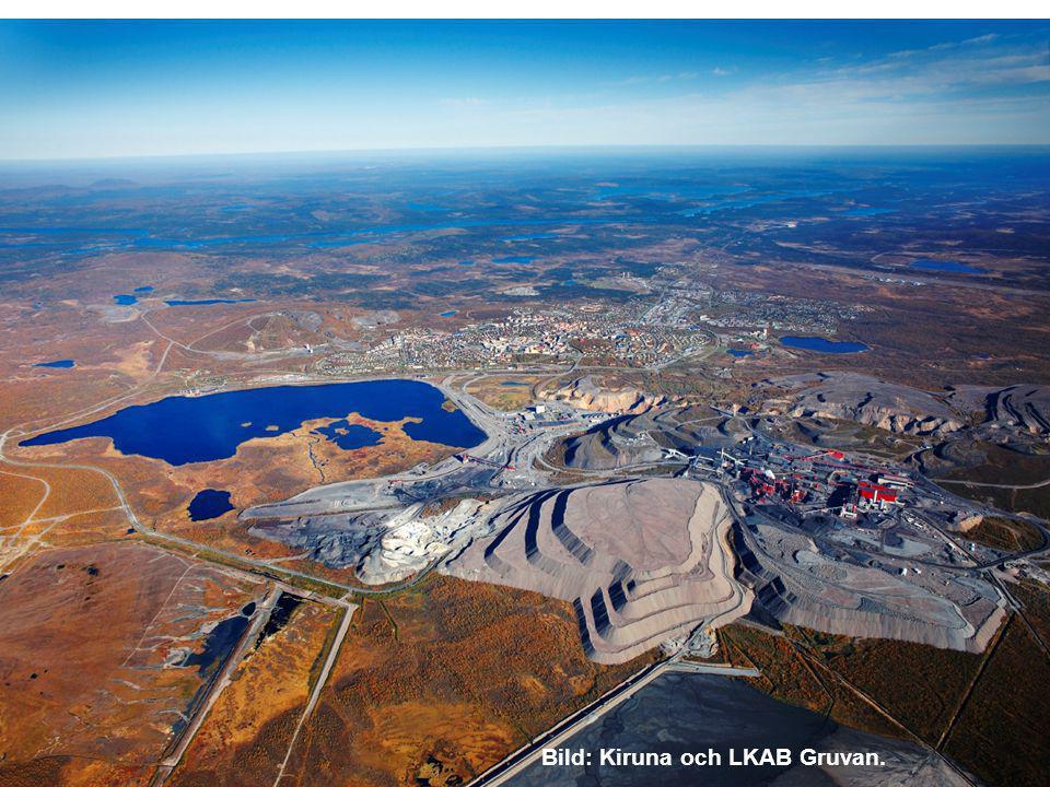 Bild: Kiruna och LKAB Gruvan.