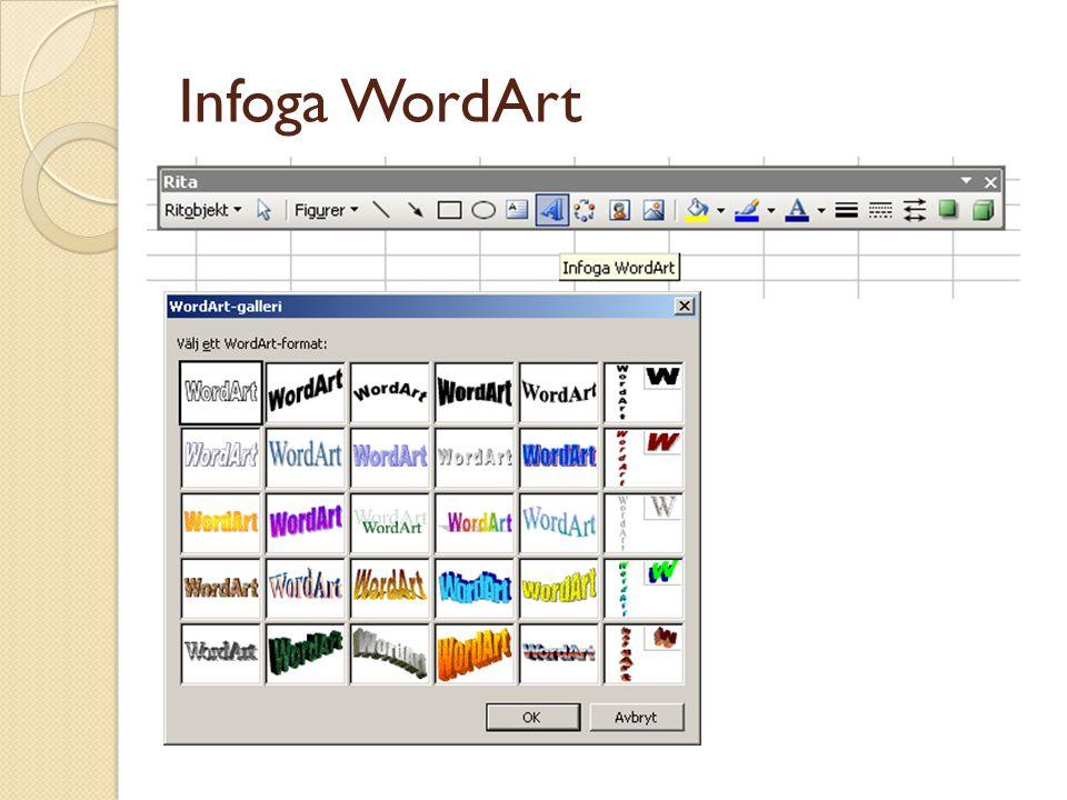 Infoga WordArt