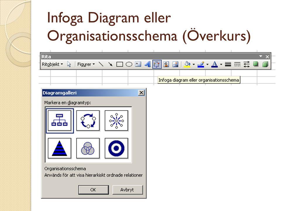 Infoga Diagram eller Organisationsschema (Överkurs)