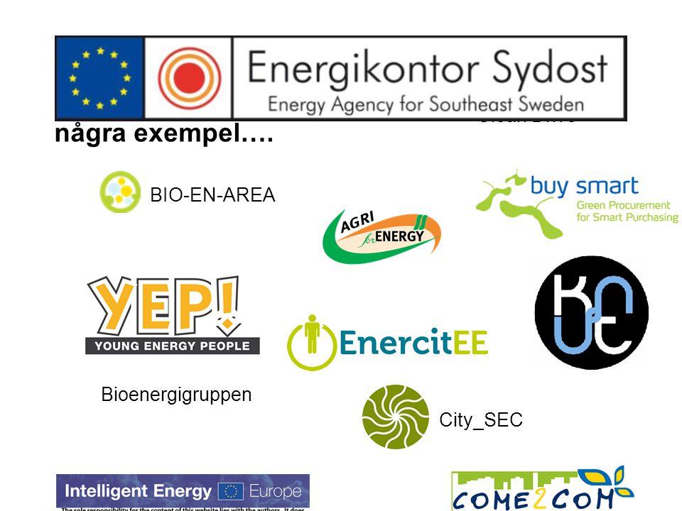 Bioenergigruppen BIO-EN-AREA City_SEC Clean Drive några exempel….
