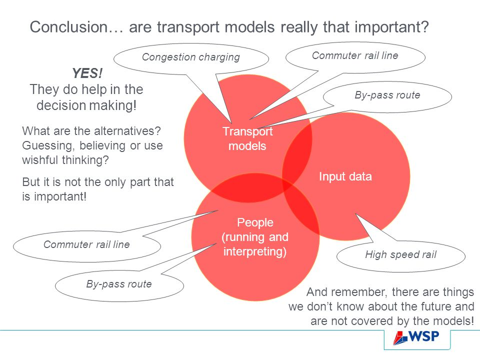 Conclusion… are transport models really that important.