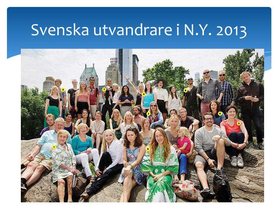 Svenska utvandrare i N.Y. 2013