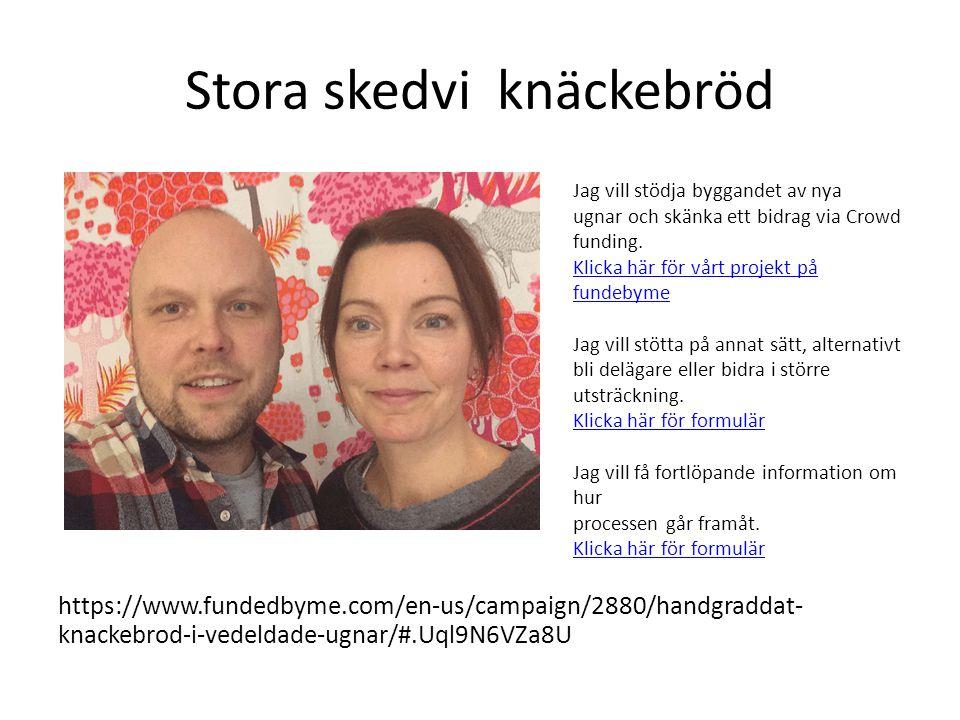 Stora skedvi knäckebröd https://www.fundedbyme.com/en-us/campaign/2880/handgraddat- knackebrod-i-vedeldade-ugnar/#.Uql9N6VZa8U Jag vill stödja byggand